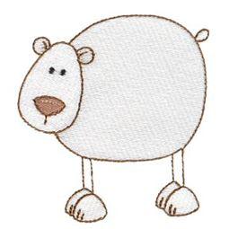 Polar Bear Stick Animal