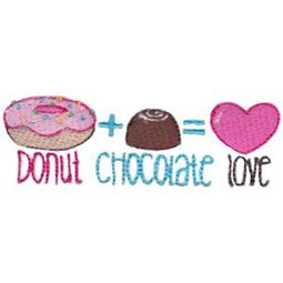Donut Chocolate Love