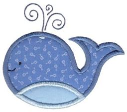 Whale 1 Applique