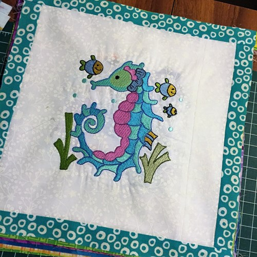 B. Squares with border