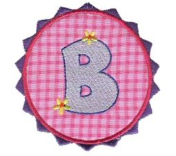 Button Applique Alphabet B