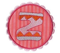 Button Applique Alphabet Z