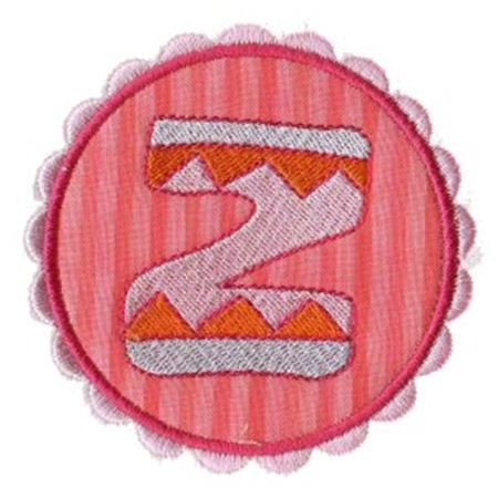 Button Applique Alphabet Z